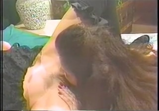 redhead in stockings eats out her large titted