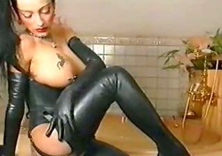 sexy leather fetish slut