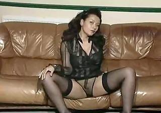 vintage aged large tit striptease